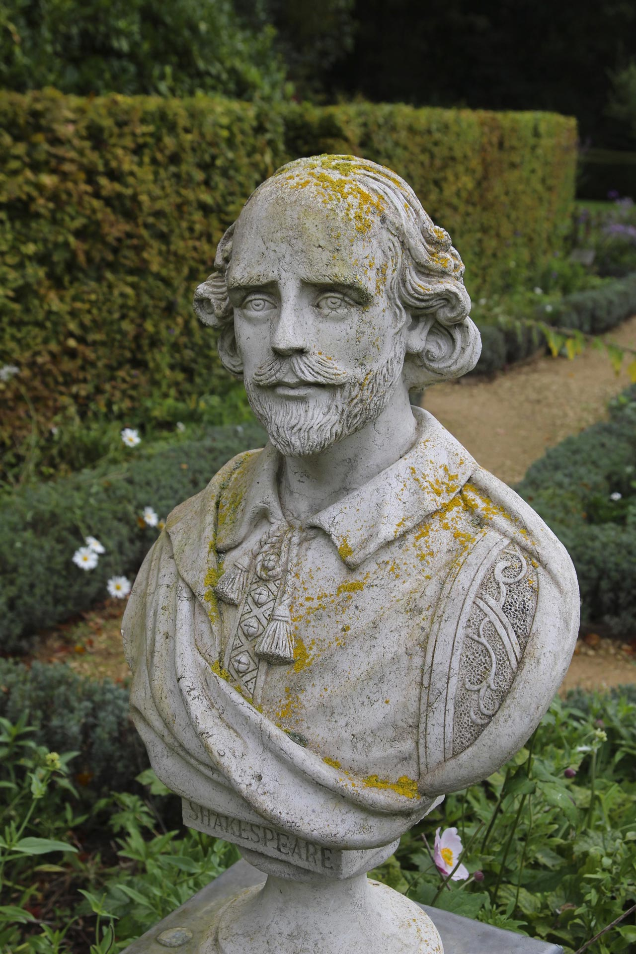 Statue at Painswick Roococo Garden by Kathryn Yengel.